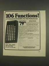 1976 Commodore 4190R Calculator Ad - 106 Functions