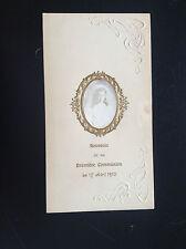 Ancien menu 1910 papier gaufré art nouveau