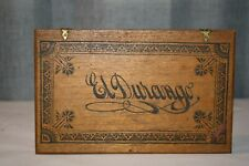 "New ListingVintage Wood Wooden Cigar Box ""El Durango"" I. Markwell Milwaukee Wi"
