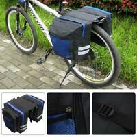 Outdoor Bike Bicycle Cycling Rear Seat Double Panniers Bag Trunk Rack Pack bags