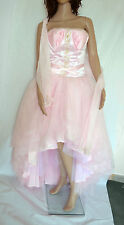 Designer Alyce Paris Prom Party Wedding Dress With Scarf Size 12 Pink RRP £549