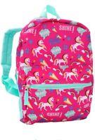 "15"" Kids UNICORN Pink Backpack Pre School Toddler Book Bag Preschool NEW"