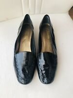 Ladies CLARKS Shoes Black Patent Leather Loafers UK 4 Office work Immaculate