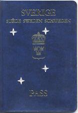 1992 year SWEDEN travel passport / annuled for date of expire' error
