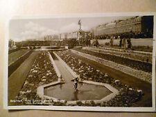 1930 RP Postcard- BRIGHTON, KING EDWARD PEACE MEMORIAB FROM SUNKEN GARDEN +STAMP