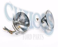 FORD MODEL A 1928-29 HEADLIGHTS 12 VOLT HALOGEN WITH TURN BULB