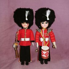 Pair of British Guards Marching Band Soldier Boy Dolls Hard Plastic