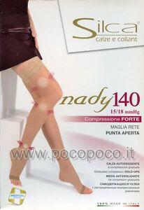 Stockings Restful 140 Den Toe Open Compression Mmhg 15/18 SILCA 3187