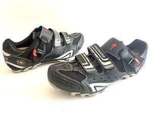 Specialized BG Road Bike Shoe US Men's 12 Eur 46 Black Shimano 2 Bolt Spd Cleats