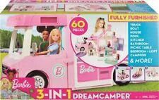 More details for barbie 3-in-1 dream camper van and accessories 60 pieces campervan playset