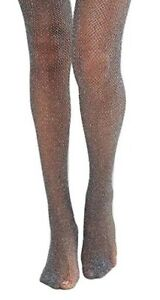 Italian Lurex Sparkly Fishnet Tights -Available in Black / Gold & Black / Silver