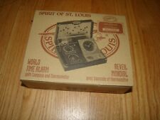 World Time Alarm Clock Spirit Of St Louis NEW SEALED Compass FREE SHIPPING