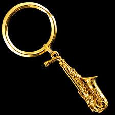 Chain 24 Karat Gold Plated Fpk566G Alto Sax Replica Jewelry Pendant Key
