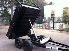 TANDEM TIPPER TRAILER drop side 8X6FT HYDRAULIC  BUILDING DIRT RUBBISH SOIL SAND