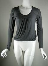 CREA CONCEPT Gray Scoop Neck Top Blouse Size 36