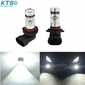 2x H10 9145 100W High Power  LED Fog Light Bulb 6000K HID White Driving Lamp