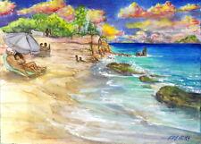 Cupecoy Beach Lovers, 2015 Sint Maarten, Saint Martin 3 sizes print Frenchy Loeb