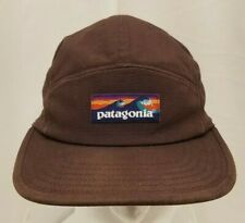 Vintage Patagonia Tradesmith Strapback 5 Panel Cap Hat Brown Flat Mens