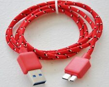 3.0 USB BRAIDED data cable FOR hard drive WD my book passport seagate game xbox