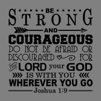 Joshua 1:9 Bible Verse Vinyl Wall Stickers Decals Scripture Quote Decor Home Art
