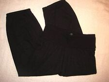 ALTERNATIVE MOVE ECO TRUE BLACK Cropped Loose Fit ATHLETIC YOGA PANTS XS