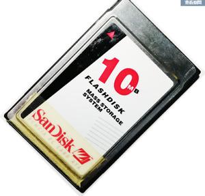 Sandisk 10MB FLASHDISK  PCMCIA PC CARD ATA FLASH CARD
