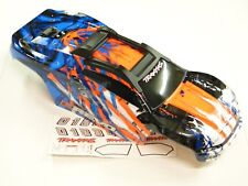 NEW TRAXXAS E-REVO 2.0 VXL 1/10 Body Factory Painted Orange /White Cliples RRE6O