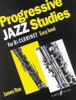 Progressive Jazz Studies: (Clarinet) by James Rae EASY sheet Music book