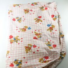 Vintage 80's Dundee Mills Fitted crib sheet Bears Balloons