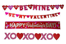 Valentines Day Foil Banner Garlands Party Decoration 4 in 1 set assorted