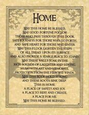HOUSE HOME BLESSING Parchment Page for Book of Shadows, Altar!