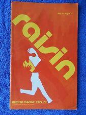 Raisin - Arena Stage Theatre Playbill - August 1973 - Ernestine Jackson