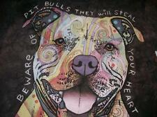 Beware of Pit Bulls they will steal your Heart Tie Dye The Mountain Men's Medium