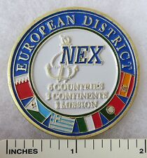 US NAVY NEX EUROPEAN DISTRICT NAVAL EXCHANGE CHALLENGE COIN Original Vintage