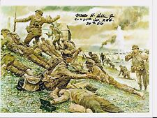 MILLS HOBBS 29TH INFANTRY DIVISION 115 A CO. D-DAY VETERAN,RARE SIGNED PHOTO