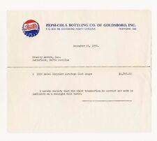 Pepsi Cola Company Car Receipt Chrysler Saratoga 1952 Model Club Coupe Vtg 1953