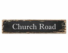 SP0565 CHURCH ROAD Street Sign Home Cafe Store Shop Bar Chic Decor Gift