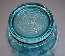 Vintage BLUE GLASS INSERT LID for BALL IMPROVED PINT or QUART Mason Canning Jar