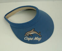 vintage Cape May dolphin emblem blue sun beach golf visor hat  made in USA