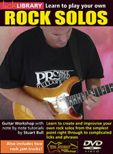 LickLibrary LEARN TO PLAY YOUR OWN ROCK GUITAR SOLOS DVD Lesson With Stuart Bull