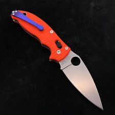 Spyderco Manix 2  Knife Gen 2 G-10 C101GP2  S30V  Orange Anso Scale Ti Clip