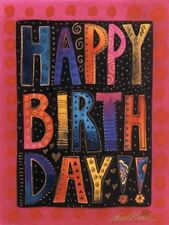 """Laurel Burch Small Card """"Happy Birthday"""" With Envelope 5""""x3.75"""""""
