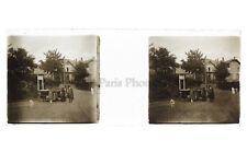 Voiture ancienne Photo Amateur Plaque de verre stereo ca 1920
