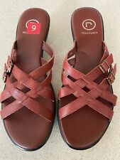 NEW ROCKPORT SANDALS Slides Shoes Women Size 9 *Red