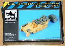 Sd.kfz.10 w/sd.ah.32 Accessories set (para MPK) de Blackdog en 1/72