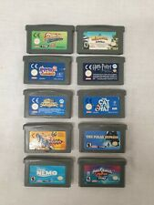 10 x Gameboy Advance Games,Harry Potter,Spyro 2,Freekstyle, Scooby Doo#454