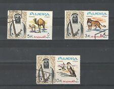 Q8142 - FUJEIRA 1964 - LOTTO USATO ANIMALI N°16/18 - VEDI FOTO