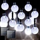 Solar Garden Lights 20-100 Led Retro Bulb Ball String Light Outdoor Fairy Lamp