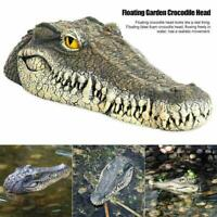 Schwimmende Gartenteich Wasserspiel Krokodil / Alligator kün Ornament Nett G1Y5