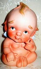 Rare Antique Bisque Kewpie Doll with Blue Wings and numbered 2718